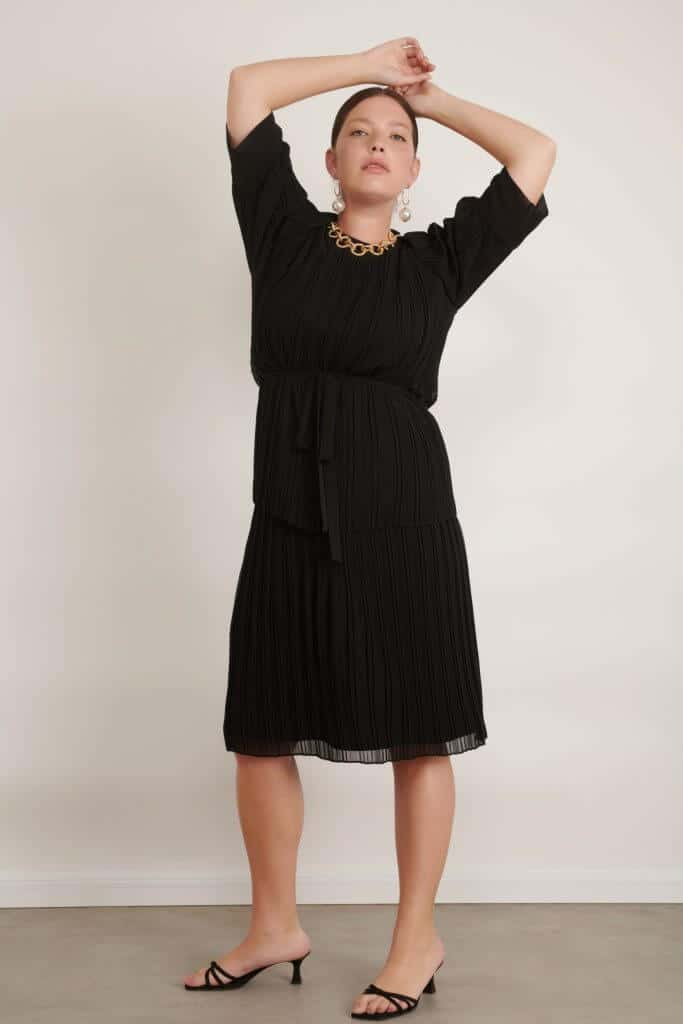 1020 big black טווין סט פליסה שחור עם חגורה 006 (Large)