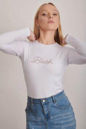 חולצת בלאש לבן מידות רגילות 1206 002 (Small)