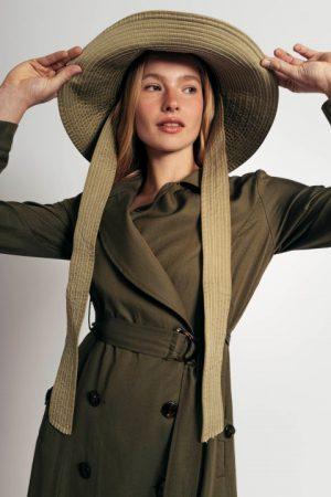שמלת דאבל - ירוק זית 010