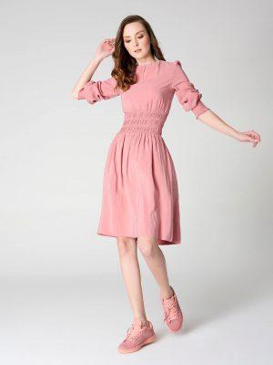 שמלת כיווץ קרושה - ורוד עתיק 001