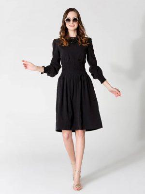 שמלת כיווץ קרושה - שחור 001