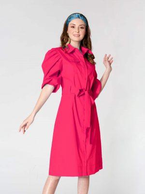 שמלת כיסים פוקסיה 001 (Large)