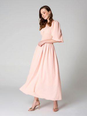 שמלת מקסי ורוד 001