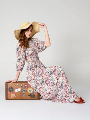 שמלת מקסי פרחים 001
