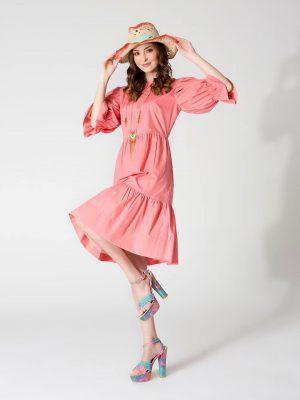 שמלת קומות - ורוד אפרסק 001