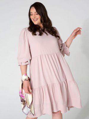 שמלת קומות - ורוד עתיק 001