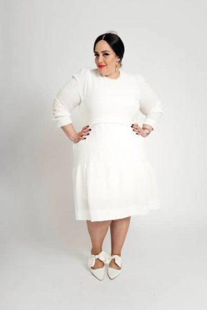 שמלת קומות לבנה 001