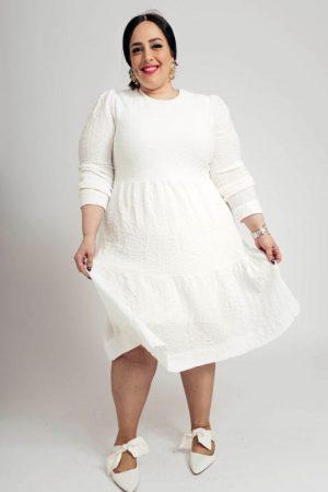 שמלת קומות לבנה 006