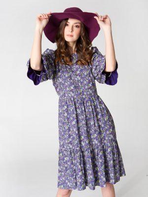 שמלת קומות - פרחים 001