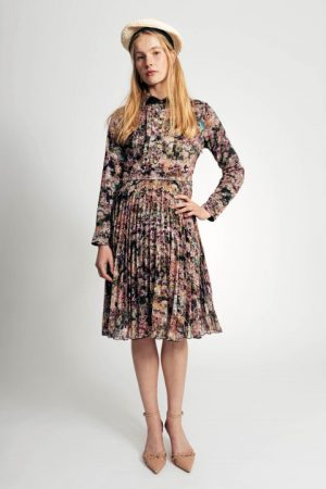 שמלת שיפון כפלים - פרחוני 001