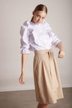1003 חצאית קשירה בז