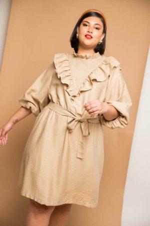 שמלת מלמלה - בז'