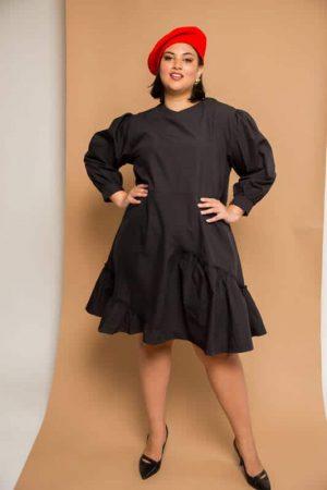 שמלת פופלין שחור